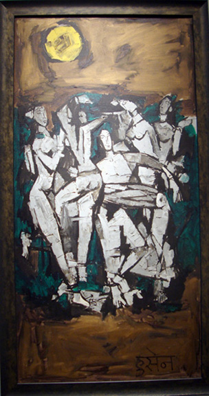 Dancers under the Full Moon by Husain