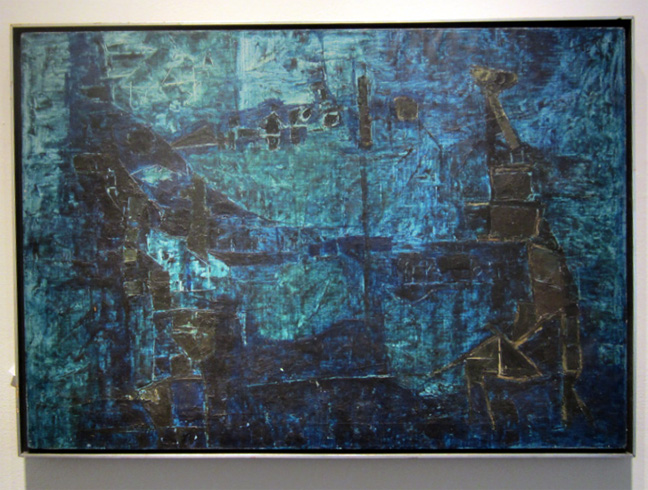 """Untitled (Blue Abstract)"" by Kumar"