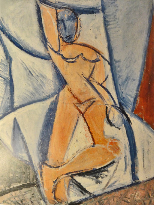 Nude with raised arm