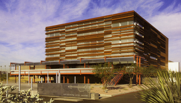"""South Mountain Community College Performing Arts Center in Phoenix by Jones Studio Inc."