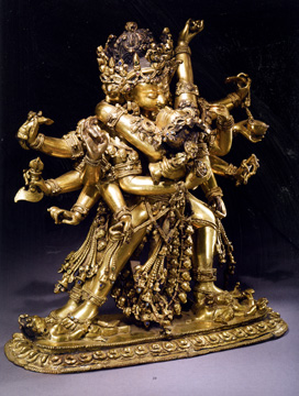 Tibet group gilt sculpture