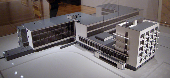 Model of Bauhaus at Dessau