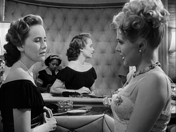 Teresa Wright and Virginia Mayo