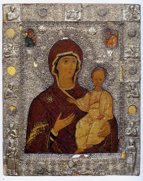 Reveted icon with the Virgin Hodegetria