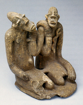 Seated couple, Djenne Civilization