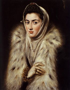 """A Lady in a Fur Wrap"" by El Greco"