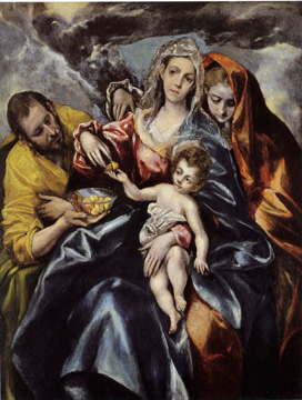"""The Holy Family with Saint Mary Magdalen"" by El Greco"