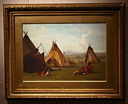 """A Sioux Camp near Laramie Peak"" by Albert Bierstadt"
