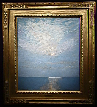 """Moonlit Seascape"" by Childe Hassam"