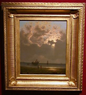 """Sun Breaking Through The Clouds: by Martin Johnson Heade"