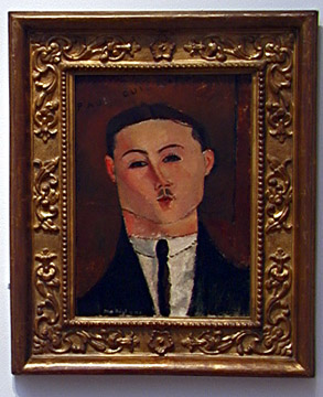 Portrait of Paul Guillaume by Modigliani