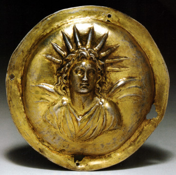 Hellenistic gilt silver roundel