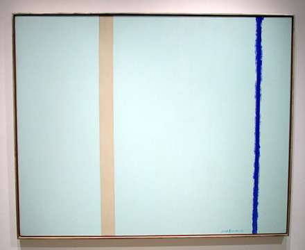 """White Fire I"" by Barnett Newman"