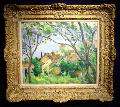 """L'Estaque vu a travers les arbes"" by Cézanne"