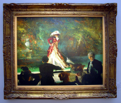 """Footlight Flirtation"" by Everett Shinn"