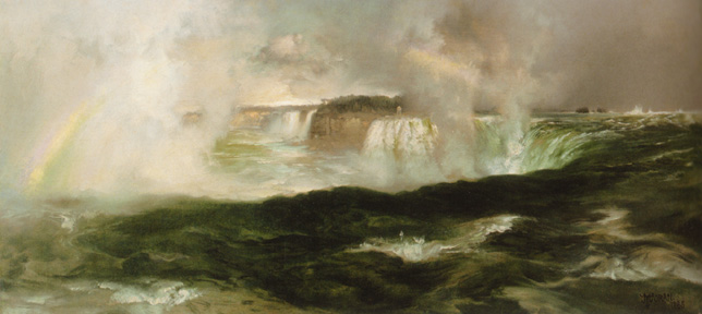 """Looking over Niagara Falls"" by Moran"