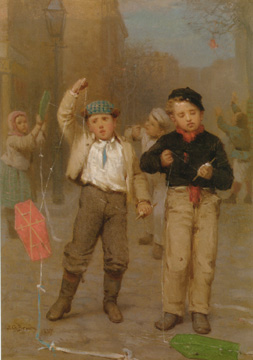 """Kite Fliers"" by John George Brown"