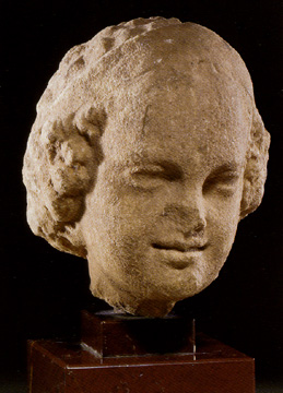 Greek marble head of a girl
