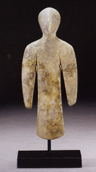 Bactrian idol of a bird man