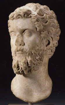 Roman head of Septimius Severus