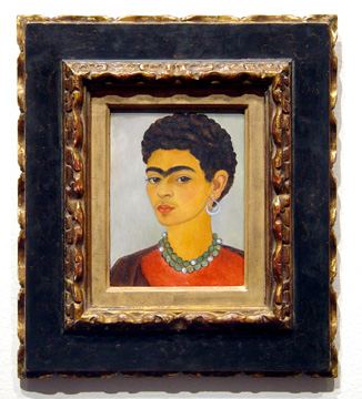 """Self-Portrait with Curly Hair"" by Kahlo"
