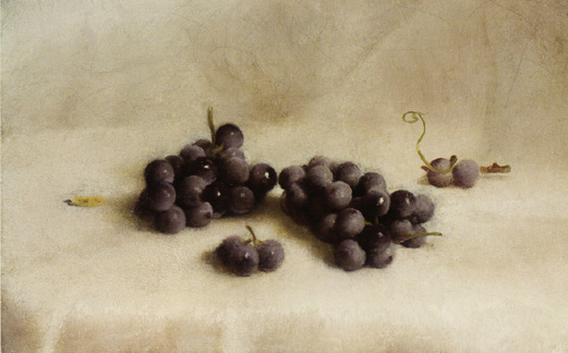"""Grapes on a White Table Cloth"" by Joseph Decker"
