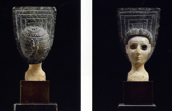 Bactrian or Margiana head of goddess or priestess