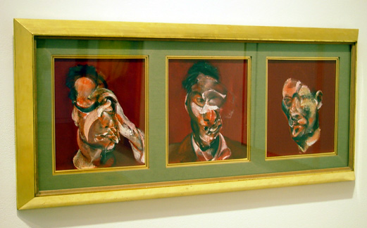 """Three studies for portrait of Lucien Freud"" by Francis Bacon"
