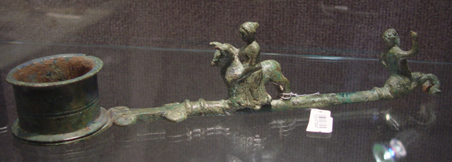 Roman bronze incense utensil