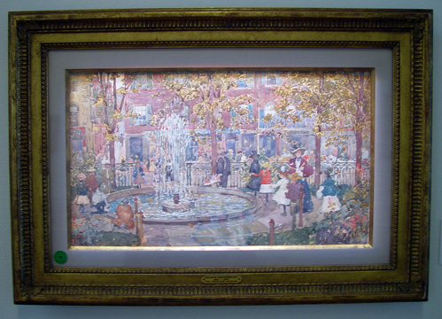 """The Fountain, Boston"" by Maurice Prendergast"