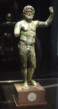 Roman bronze figure of Zeus