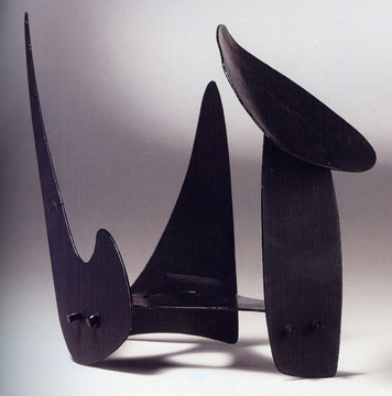 """Mushroom, Triangle, Inverted Comma"" by Calder"