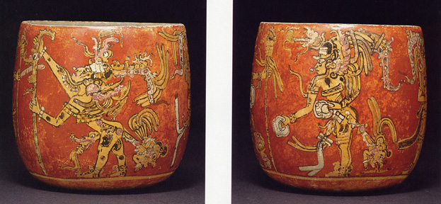 Lot 299, Mayan painted bowl, Late Classic, circa 550-950 A.D.