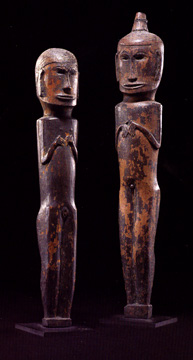 Pair of Male and Female Figures, Batak