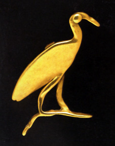 Gold amulet of an Ibis