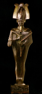 Bronze statue of Osiris