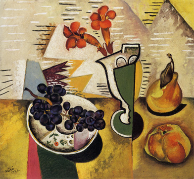 """Nature morte au raisin"" by Miró"