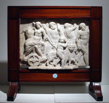 Marble relief panel