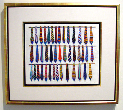 """Row Ties"" by Thiebaud"