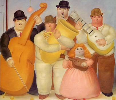 """The Musicians"" by Botero"