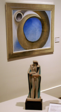 """Goat's Horns"" by O'Keeffe, top, and ""Modern Madonna"" by Storrs, bottom"
