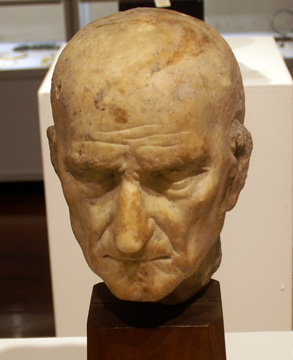 Roman marble portrait head