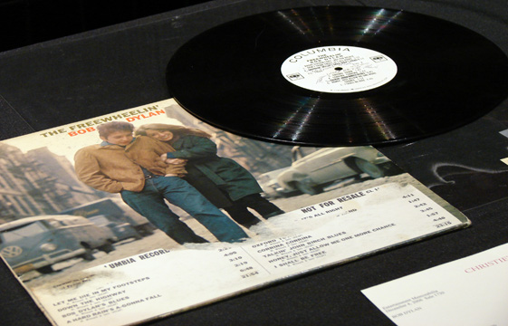 """Not for sale"" record of ""Freewheelin' Bob Dylan"""