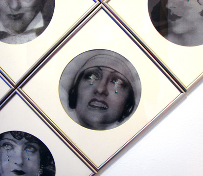 "Detail of ""Four Fabulous Faces"" by Vezzoli"