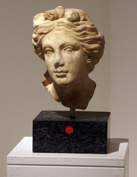 Roman head of a goddess