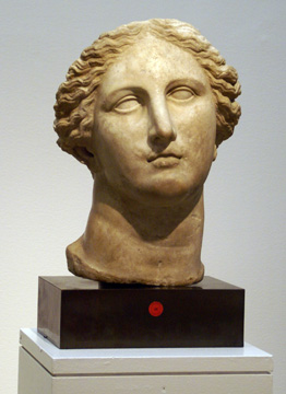 Hellenistic head of a goddess