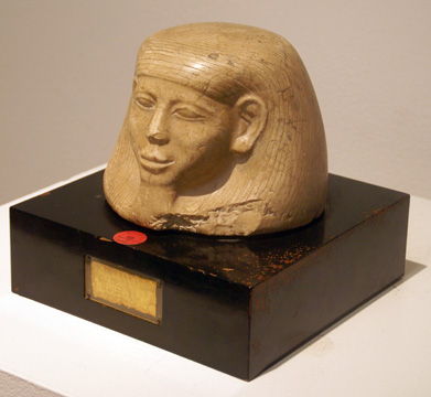 Egyptian canopic jar lid