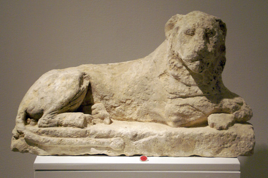Egyptian limestone lion