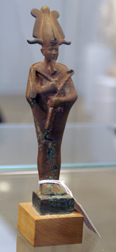 Bronze figure of Osiris