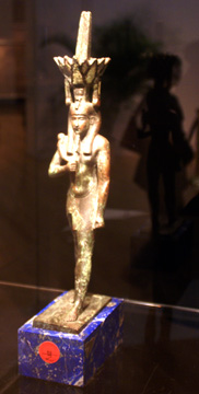 Egyptian statue of Nefertum